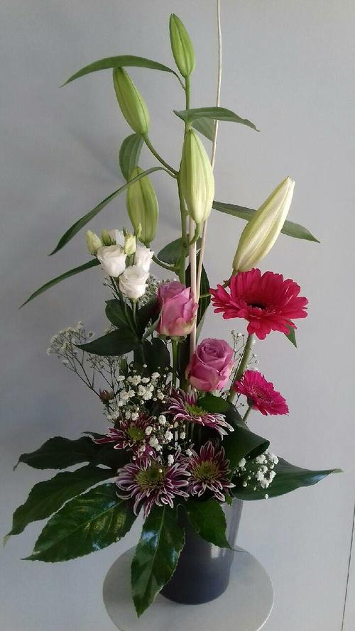 Composition de fleurs - Tons roses