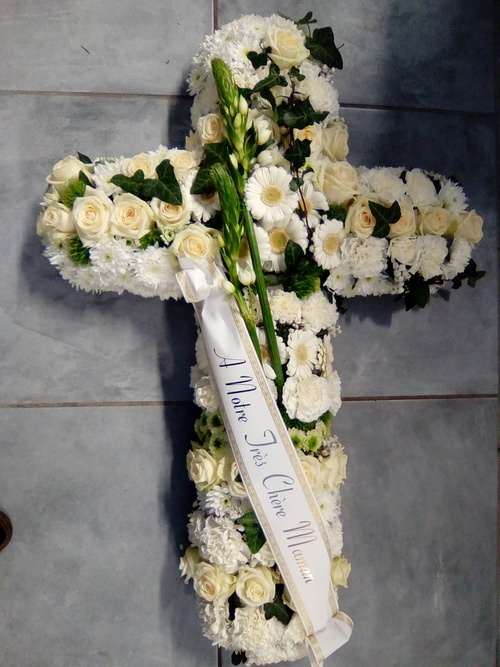 Croix de fleurs - Deuil