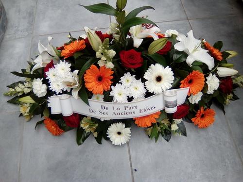 Gerbe de fleurs pour Deuil & Condoléances