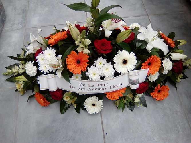 Gerbe de fleurs pour Deuil & Condoléances 0