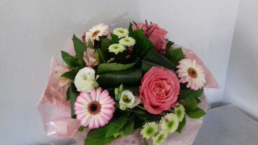 Bouquet rond - Camaïeu de roses 0