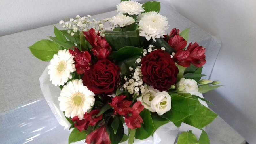 Bouquet rond - Ton Blanc & Rouge 0